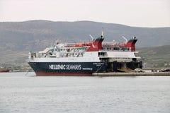 Helleense Zeewegenveerboot stock afbeeldingen