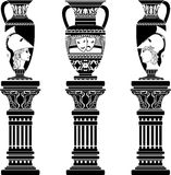 Hellenic Jugs With Columns Stock Image