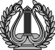Hellenic lyre. Ancient hellenic lyre. vector illustration Royalty Free Stock Image