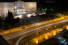Hellenic Parliament Athens. The Hellenic Parliament building in Athens, Greece Stock Images