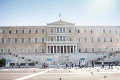 Hellenic Parliament building. ATHENS, GREECE - OCTOBER 6, 2011 : The Hellenic Parliament building on Syntagma Square on October 6th, 2011 in Athens, Greece Stock Images