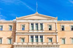 The Hellenic Parliament building. On Syntagma Square in Athens, Greece Royalty Free Stock Photos