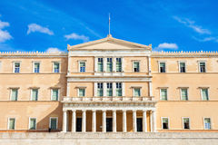 The Hellenic Parliament building. On Syntagma Square in Athens, Greece Royalty Free Stock Images