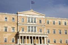 Hellenic Parliament of Greece - Athens. Parliament House (Old Royal Palace), overlooking Syntagma Square in Athens - Greece Royalty Free Stock Photography
