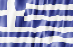 Hellenic Republic, Greece Flag Stock Images