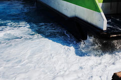 Hellenic Seaways at Athinios Port, SANTORINI. SANTORINI, GREECE - OCTOBER 5, 2014 : Hellenic Seaways at Athinios Port Stock Photos