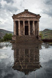 The Hellenic temple of Garni in Armenia. The Hellenic old temple of Garni in rainy day, Armenia Royalty Free Stock Photos