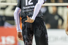 Hellenic Volleyball League game Paok vs Olympiacos Stock Photos