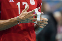 Hellenic Volleyball League game Paok vs Olympiacos Royalty Free Stock Image