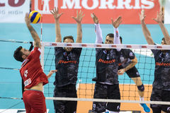 Hellenic Volleyball League game Paok vs Olympiacos royalty free stock photo