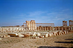 Hellenistic ancient town, Palmyra, Syria. Hellenistic ancient town of Palmyra in Syria threatened now by the Islamic State Stock Images