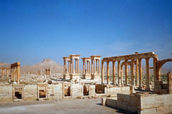 Hellenistic ancient town, Palmyra, Syria. Hellenistic ancient town of Palmyra in Syria threatened now by the Islamic State Stock Photography