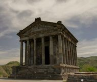 Hellenistic Garni temple at Caucasus Mountain Armenia Royalty Free Stock Photos