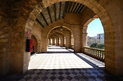 Hellenistic stadium in mallorca arches. Hellenistic stadium in mallorca with many arches Royalty Free Stock Image