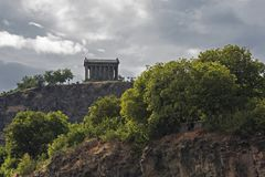 Hellenistic temple at Garni, Armenia. Temple of Garni in the town of Garni, Armenia Royalty Free Stock Image