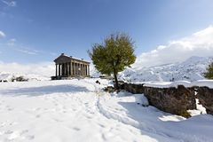 Hellenistic Temple at Garni, Armenia. Hellenistic Temple at Garni in the winter, Armenia Stock Images