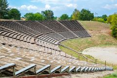 Hellenistic Theater. Dion, Pieria, Greece Stock Photos