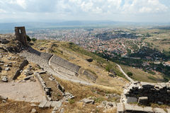 The Hellenistic Theater in Pergamon Stock Photo