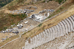 The Hellenistic Theater in Pergamon. Turkey Stock Images