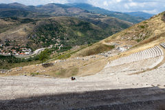 The Hellenistic Theater in Pergamon. Turkey Royalty Free Stock Image