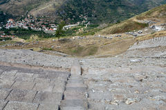 The Hellenistic Theater in Pergamon. Turkey Royalty Free Stock Photography