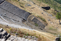 The Hellenistic Theater in Pergamon. Turkey Royalty Free Stock Photo