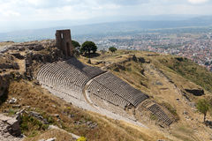The Hellenistic Theater in Pergamon Stock Image