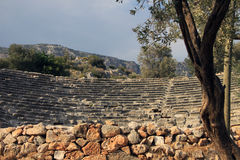 Hellenistic Theater von Kas Lizenzfreies Stockbild