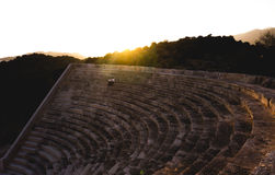 Hellenistic Theatre at Kas, Turkey. Shot at sundown Stock Photography