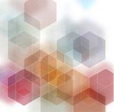 Heller abstrakter strukturierter polygonaler Mehrfarbenhintergrund Undeutliches Dreieckdesign des Vektors Stockfotografie