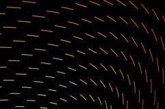 Heller Anstrich Abstrakte, futuristische, bunte lange Belichtung, Querstation Lizenzfreie Stockbilder