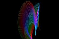 Heller Anstrich Abstrakte, futuristische, bunte lange Belichtung, Querstation Stockfotografie