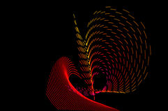 Heller Anstrich Abstrakte, futuristische, bunte lange Belichtung, Querstation Lizenzfreie Stockfotografie