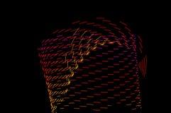 Heller Anstrich Abstrakte, futuristische, bunte lange Belichtung, Querstation Stockfotos
