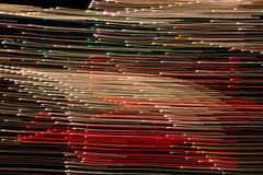 Heller Anstrich Farbige Licht-Schleife lizenzfreies stockfoto