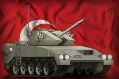 Heller Behälter APC auf dem die Türkei-Staatsflaggehintergrund Abbildung 3D Lizenzfreie Stockfotografie