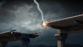Heller Blitz vom Himmel Lizenzfreie Stockfotos