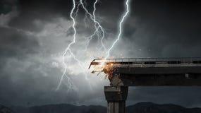 Heller Blitz vom Himmel Stockfotos