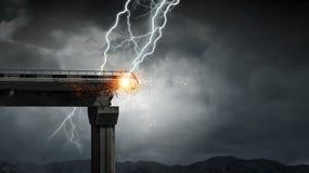 Heller Blitz vom Himmel Stockfotografie