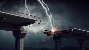 Heller Blitz vom Himmel Stockbilder