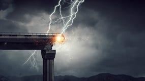 Heller Blitz vom Himmel Lizenzfreie Stockfotografie