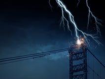 Heller Blitz vom Himmel Stockbild
