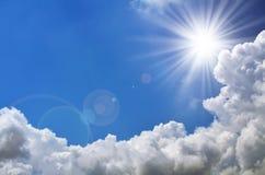 Heller Blitz von Sun Stockbilder