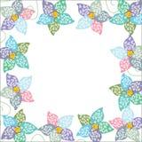 Heller Blumenrahmen, Hintergrund für Ihr Design Lizenzfreies Stockfoto