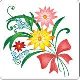 Heller Blumenstrauß von den mehrfarbigen Farben. Stockfoto