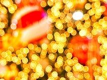 Heller Bokeh-Weihnachtsbaum Lizenzfreies Stockfoto