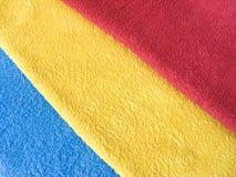 Heller bunter Textilhintergrund Frotteestoffe Stockfotografie
