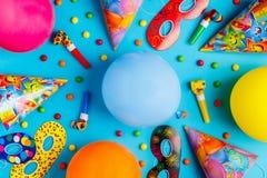 Heller Dekor für einen Geburtstag, eine Partei, ein Festival oder einen Karneval lizenzfreie stockfotos