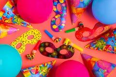 Heller Dekor für einen Geburtstag, eine Partei, ein Festival oder einen Karneval lizenzfreies stockfoto