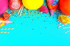 Heller Dekor für einen Geburtstag, Partei lizenzfreies stockbild